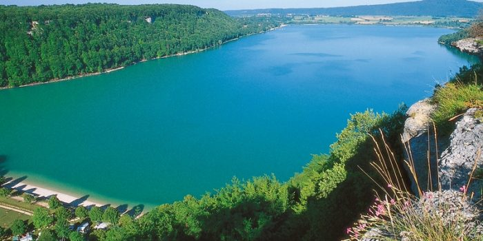 Lac vue de haut